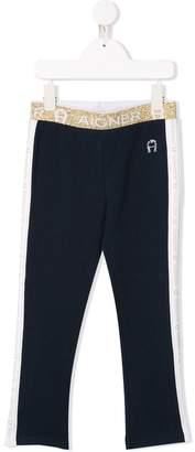 Aigner Kids logo stripe track trousers