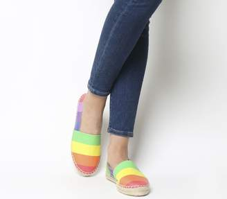 Office Lucky Espadrilles Rainbow Leather