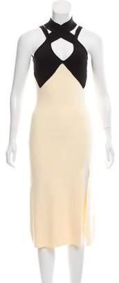 Self-Portrait Slit-Accented Midi Dress