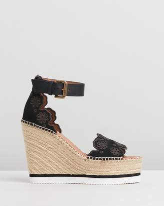 See by Chloe Scalloped Edge Wedges