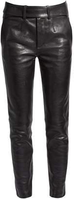 Saint Laurent Smoking leather biker trousers