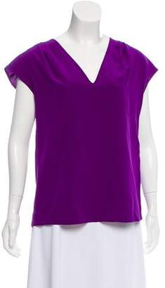 Derek Lam Silk Plunging Neckline Top w/ Tags