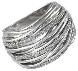 EFFY Balissima Sterling Silver Diamond Ring