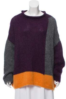 Collection Privée? Mohair-Blend Colorblock Sweater w/ Tags