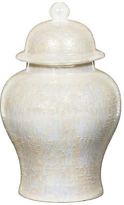 "19"" Snakeskin Temple Jar - Pearl - Bradburn Home"