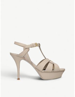30dec62919 Saint Laurent Tribute 75 leather heeled sandals