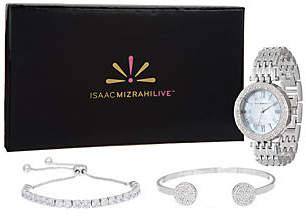 Isaac Mizrahi Live! 3-Piece Mother-of-PearlWatch Set