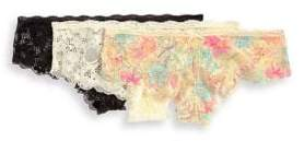 Honeydew Intimates Three-Pack Lace Hipster Panties