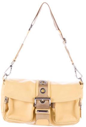 pradaPrada Calf Pocket Leather Shoulder Bag