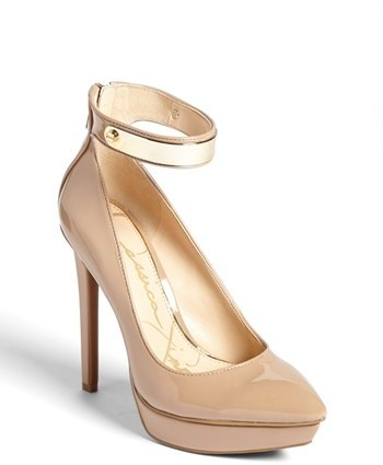 Jessica Simpson 'Violla' Ankle Strap Pointy Toe Pump