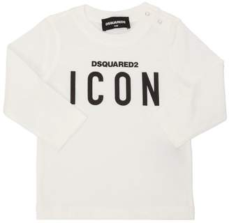 DSQUARED2 Icon Printed Jersey Long Sleeve T-Shirt