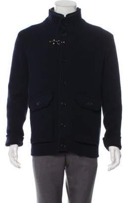 Fay Wool Cardigan w/ Puffer Vest navy Wool Cardigan w/ Puffer Vest