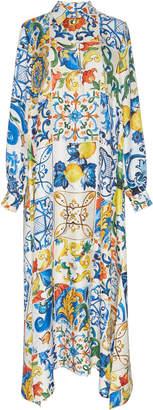Dolce & Gabbana Maiolica-Print Maxi Dress