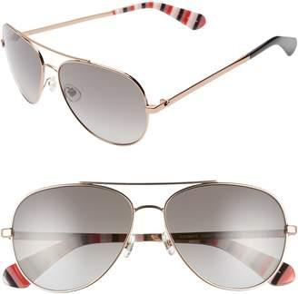 f0fac468a3 Kate Spade Avaline 2 58mm Polarized Aviator Sunglasses