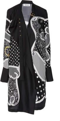 Monse Pluto Belted-Collar Silk Shirt Dress Size: 10