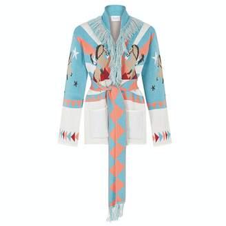 Hayley Menzies - Short Sunrise Rodeo Cardi-Coat Turquoise