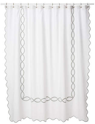 One Kings Lane Matouk For Gianna Shower Curtain - Silver