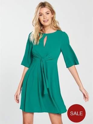 Very Tie Front Dress - Green