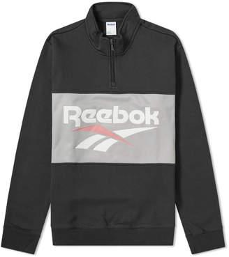 Reebok Retro Vector Quarter Zip Sweat