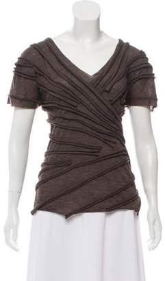 Marc Jacobs Short Sleeve Wool Top