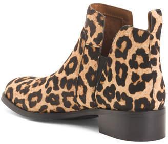 Haircalf Leopard Booties