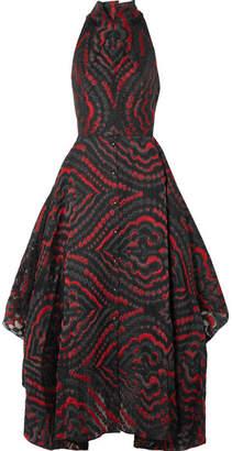 Roland Mouret Lovell Cutout Cloqué Midi Dress - Red