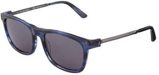 Calvin Klein Collection Square Acetate/Metal Sunglasses