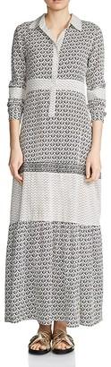 Maje Ragely Maxi Shirt Dress $595 thestylecure.com