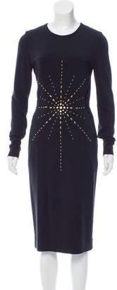 Tamara Mellon Embellished Midi Dress