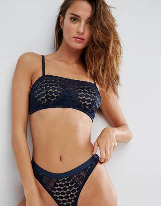Asos Isla Mix & Match Circle Hidden Underwire Bandeau Bra