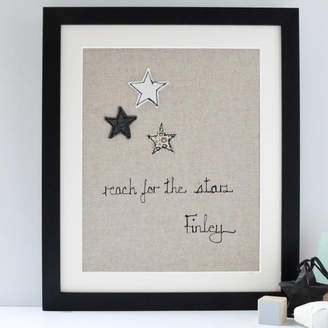 Handmade at Poshyarns Personalised Reach For The Stars Artwork
