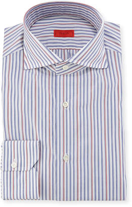 Isaia Striped Woven Dress Shirt