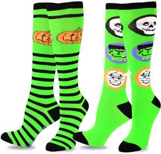 TeeHee Socks TeeHee Women Halloween Novelty Fun Knee High Socks 2 Pair Pack