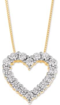 e2bdcb83790 Macy's Star Signature Diamond Heart Pendant Necklace (1 ct. t.w.) in 14k  Gold