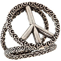 Sku 3d Peace Ring