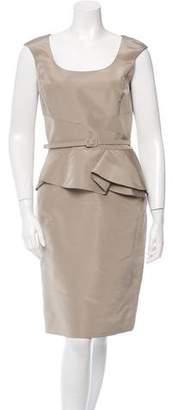 Oscar de la Renta Silk Sleeveless Dress w/ Tags