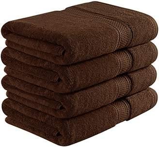 Ringspun Utopia Towels 700 GSM Premium Bath Towels - 4 Pack Towel Set - (27x54 Bath Towels) - 100% Ring-Spun Cotton Towels for Home