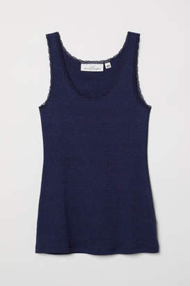 H&M Tank Top with Lace - Blue