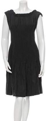 Alberta Ferretti Sleeveless Wool Dress