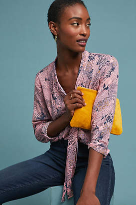 Anthropologie 52 Conversations by Colloquial Neck-Tie Blouse