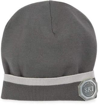 Stefano Ricci Boys' Striped-Cuff Beanie Hat