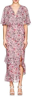 "Saloni Women's ""Rose"" Floral Silk-Blend Dress"