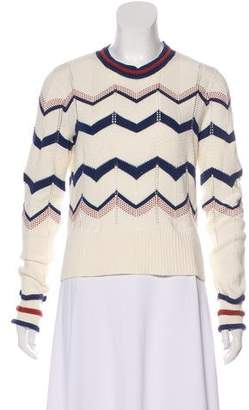 Veronica Beard Patterned Long Sleeve Sweater