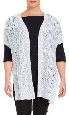 Vince Camuto Plus Long Open-Front Cardigan