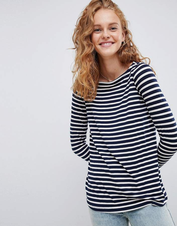 ASOS DESIGN Stripe Slouchy Long Sleeve T-Shirt