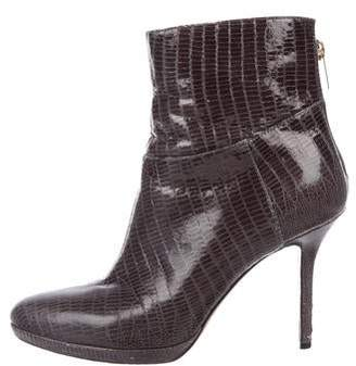 Jimmy Choo Embossed Leather Booties