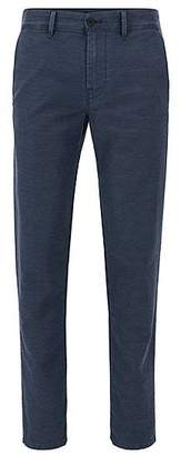 HUGO BOSS Tapered-fit trousers in midweight twill