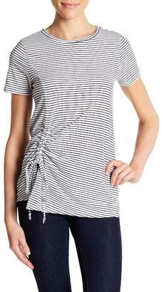 Olivia Sky Ruched Striped Tee