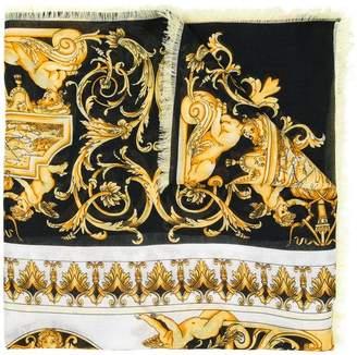 Versace Signature print scarf