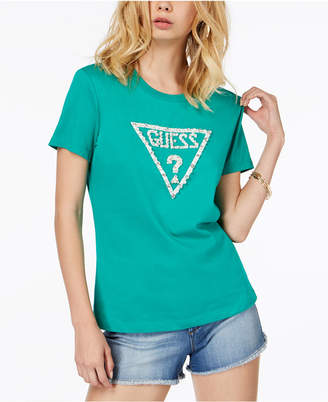 GUESS Cotton Embellished Graphic T-Shirt